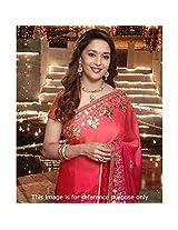 Bollywood Actress Madhuri Dixit In Designer Red Saree