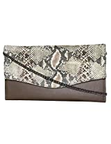 Women's Leather Clutch Brown