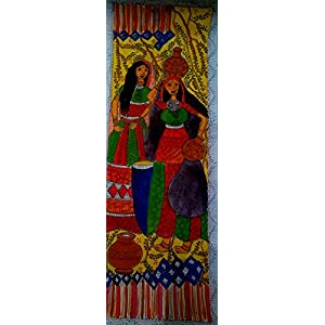 NUCreations Madhubani - Original Painting - Water Color On Hand Made Paper