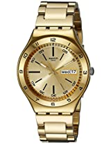 Swatch Luminescent Hands Analog Gold Dial Men's Watch - YGG706G