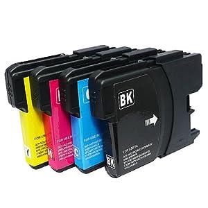 【クリックでお店のこの商品のページへ】≪ 4色 セット ≫ ブラザー Brother LC11-4PK LC11BK C M Y 互換 インク [PC]: パソコン・周辺機器