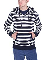Zobello Men's Hoodie (51009A_Navy White_X-Large)