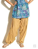 Cotton Patiala-Beige-S