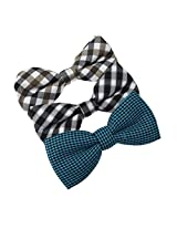 DBE0179 Various For Wedding Microfiber Dress Pre-Tied Bow Tie 3 Pack Bow Tie Set By Dan Smith