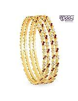Sukkhi Gold Plated Color & AD Stone bangles - 1124VB900 [Jewellery]