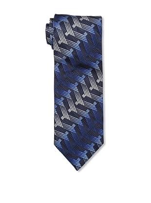 Missoni Men's Large Side Zigzag Tie, Blue