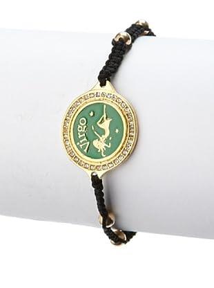 Blee Inara Green Virgo Macrame Bracelet