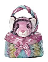 Aurora World Fancy Pal Pet Plush Carrier, Teal Sparkle Twist