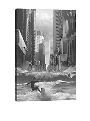 Thomas Barbèy Swell Time In Town Giclée Canvas Print