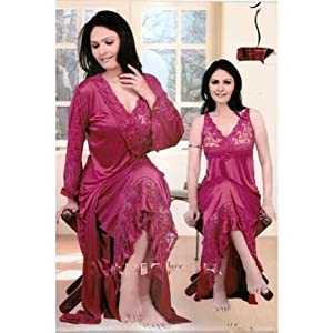 Frill Delight Lacy Nighty Gown Set