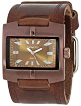 Nemesis Men's BBD060B Racing Sport Collection Braided Coppertone Brown on Brown Watch