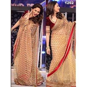 Bollywood Madhuri Dixit Zal Net Saree