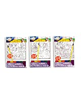 """6 WIZARD of OZ Paint Sets 6"""" x 9"""" Mini Posters with Palette & Brushes - KIDS Activity Arts & Crafts"""