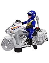 Techege Toys Motorcycle Police Officer with Flashing Lights BumpnGo Pursuit Sounds Police Chase Cops