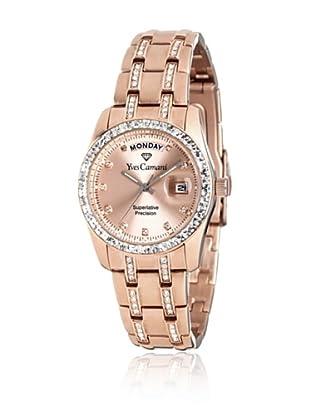 Yves Camani Reloj Navigator Leder Oro Rosa