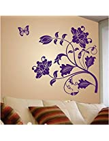 Purple Vine Flower Wall Sticker from Decal Dzine