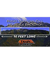 Train Junkies Rockey Mountain Fall Railroad Backdrop Ho Oo Scale