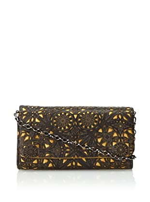 Inge Christopher Women's Charlotte Medium Clutch, Black/Gold