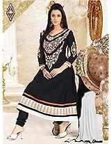 Cotton Embroidered Black Anarkali Suit -BBD2008