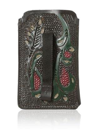 Ben Sherman Men's Plectrum Hand-Painted iPhone Case (Dark Brown)