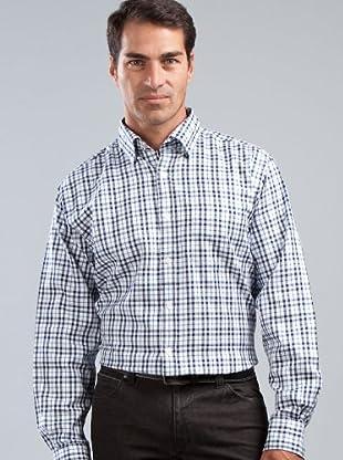 Cortefiel Camisa (blanco / azul marino)