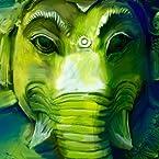 Ganesha Art Green Poster