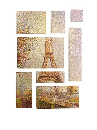 Georges Seurat Eiffel Tower 8-Piece Giclée Canvas Print