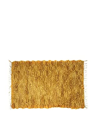 Swedish Handmade Rya Rug, Gold, 3' 4