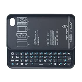 �T�C�Y M Design iPhone4/4S�p AIR SLIDE KEYBOARD CASE2 Bluetooth�ڑ��L�[�{�[�h �u���b�N MDKC-IP4S-BK