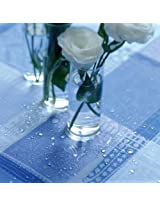 Garnier Thiebaut Coated Tablecloth, Mille Wax Ocean, 69-Inch By 69-Inch, Square