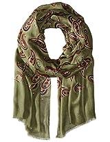 Saro Lifestyle Women's Paisley Design Scarf, Sage, One Size