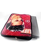 Devarshy Digital Print Computer Quilted Limited Edition 17 Inch Laptop Sleeves/ Cover - Elvis Presley On Life