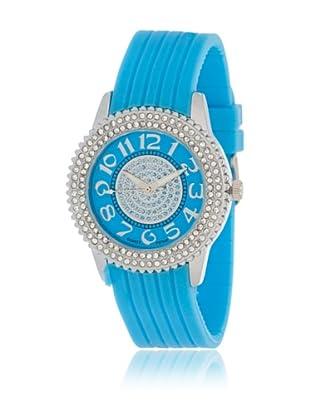 My Silver Reloj Reloj Plata y Turquesa con Esfera Strass