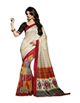 Abida Women Tassar Silk Saree (Ab12531 _Multi-Coloured _Free Size)