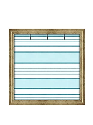 PTM Images Canvas Key/Jewelry Organizer with Foam-Core Backing, Robin's Egg Blue