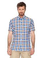 Cortefiel Camisa Cuadros (azul / marrón / blanco)
