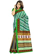 Multi Colour Bhagalpuri Art Silk Saree 5102B