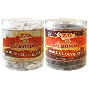 Almonds White And Dark Chocolate - Chocholik Dry Fruits - 2 Combo Pack