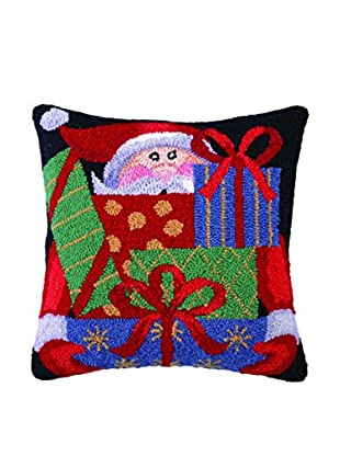 Peking Handicraft Santa's Presents Throw Pillow, Multi
