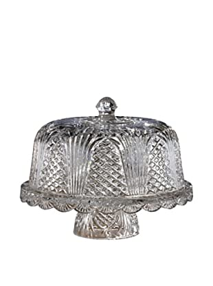 Fifth Avenue Muirfield Crystal Wellington Cake Plate with Dome