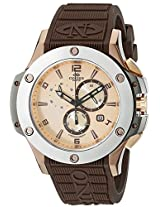 Oniss Paris Men's ON612N-RB/BN-SAL/BN BOLD COLLECTION Analog Display Swiss Quartz Brown Watch