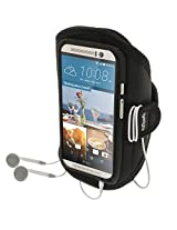 iGadgitz Water Resistant Black Sports Jogging Gym Armband for HTC One M9 (2015)