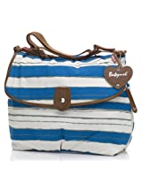 Babymel Diaper Bag, Satchel Stripe Boathouse Blue