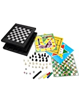 [10 In 1][2~4 Player] Abs Plastic Magnetic Game Chess/Checkers/Backgammon/Chinese Checkers/Nine Mens Morris Game/Snakes&Ladders Game/Ludo Game/Motor Racing/Train Chess Game