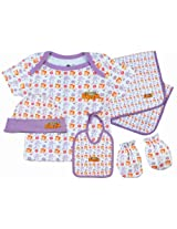 Chhota Bheem 5 Piece Gift Set - Purple/White (0 - 1 Months)