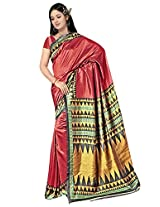 Kothari Printed Saree (KT0109_Red)