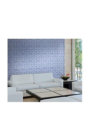 Astek Wall Coverings Set of 2 Floral Diamond Damask Wall Tiles