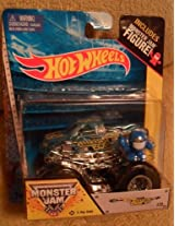 Monster Jam BACKWARDS BOB includes monster jam figure blue