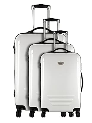 American Revival by Platinium Set 3 Trolleyss 4 Ruedas Colors (Blanco)