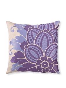 "D.L. Rhein Waikiki Linen Pillow, Purple, 20"" x 20"""